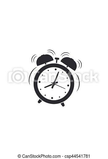 Alarm clock wake-up time icon isolated on white background. Vector illustration - csp44541781