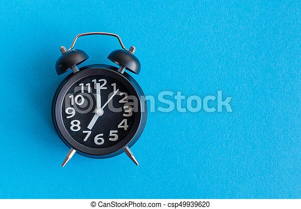 Alarm clock with seven o'clock - csp49939620