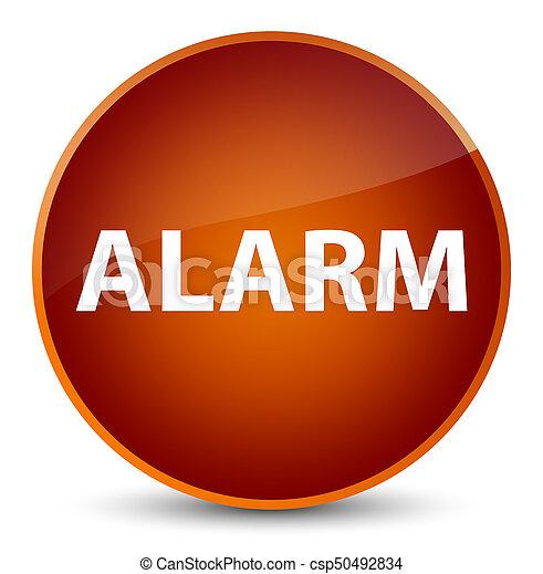 Alarm elegant brown round button - csp50492834