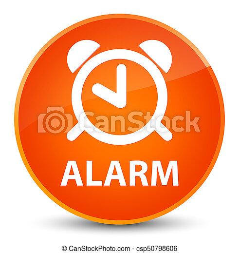 Alarm elegant orange round button - csp50798606