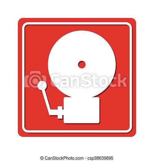 alarm emergency fire icon - csp38639895