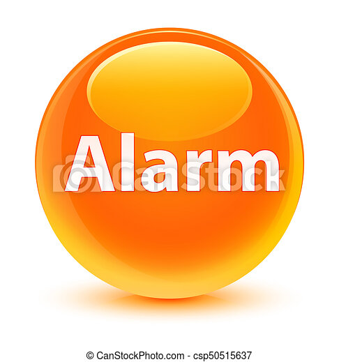 Alarm glassy orange round button - csp50515637