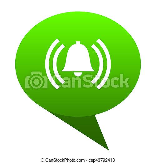 alarm green bubble icon - csp43792413