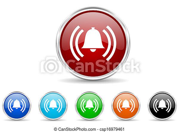 alarm icon set - csp16979461
