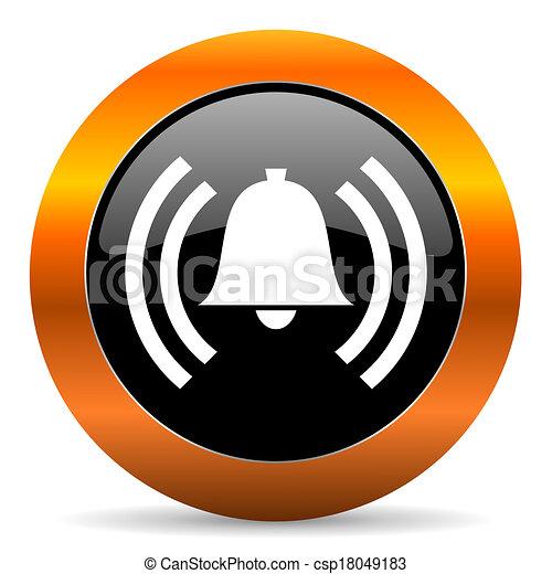 alarm icon - csp18049183
