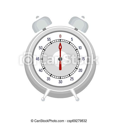 Alarm kitchen timer icon, flat style - csp69279832