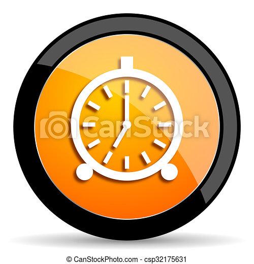 alarm orange icon - csp32175631
