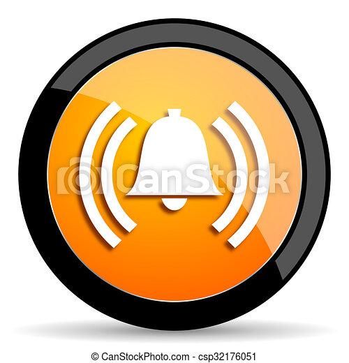alarm orange icon - csp32176051