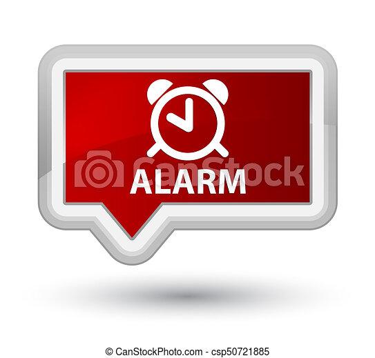 Alarm prime red banner button - csp50721885