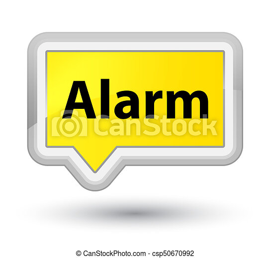 Alarm prime yellow banner button - csp50670992