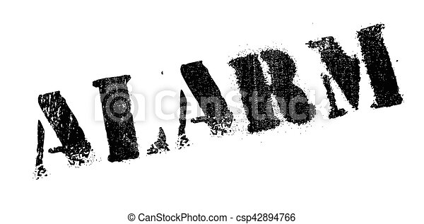 Alarm rubber stamp - csp42894766
