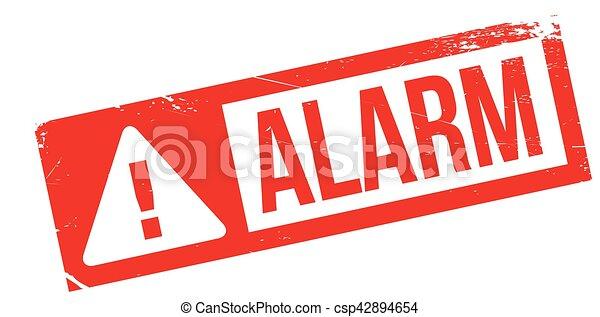 Alarm rubber stamp - csp42894654