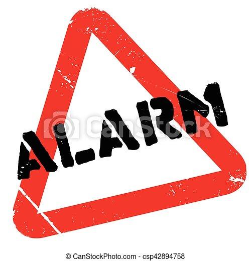 Alarm rubber stamp - csp42894758