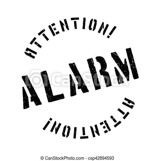 Alarm rubber stamp - csp42894593