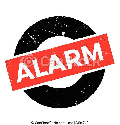 Alarm rubber stamp - csp42894740