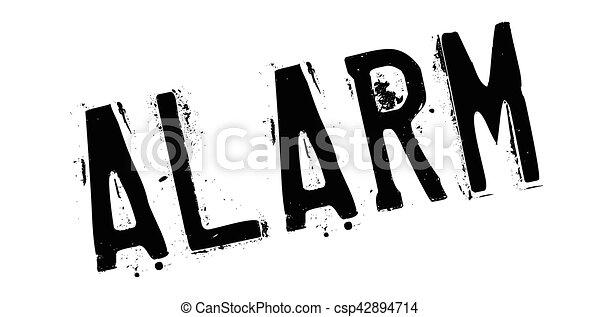 Alarm rubber stamp - csp42894714