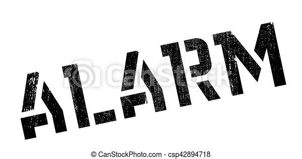 Alarm rubber stamp - csp42894718