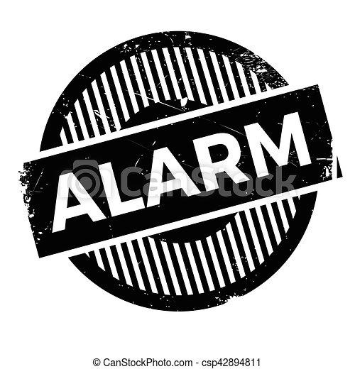 Alarm rubber stamp - csp42894811