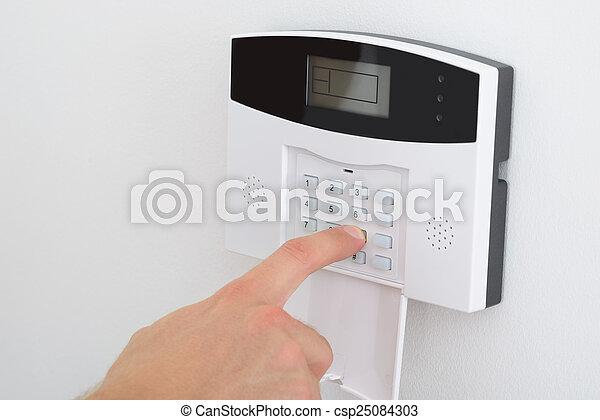alarm, sæt, garanti, finger - csp25084303