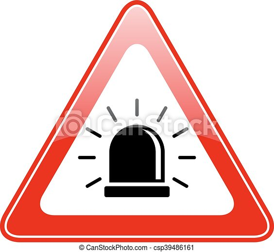 alarm siren warning sign isolated on white background clip art rh canstockphoto com alarm clipart alarm clipart