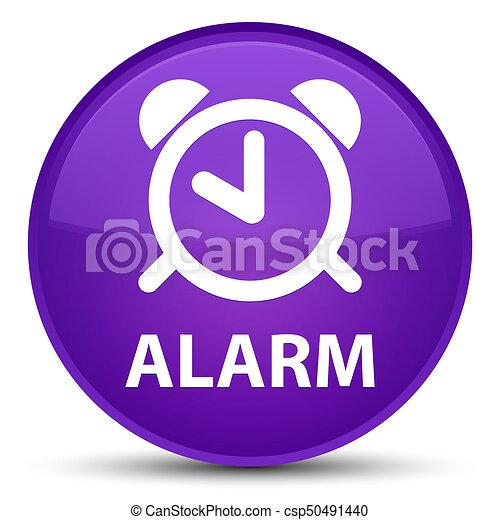 Alarm special purple round button - csp50491440