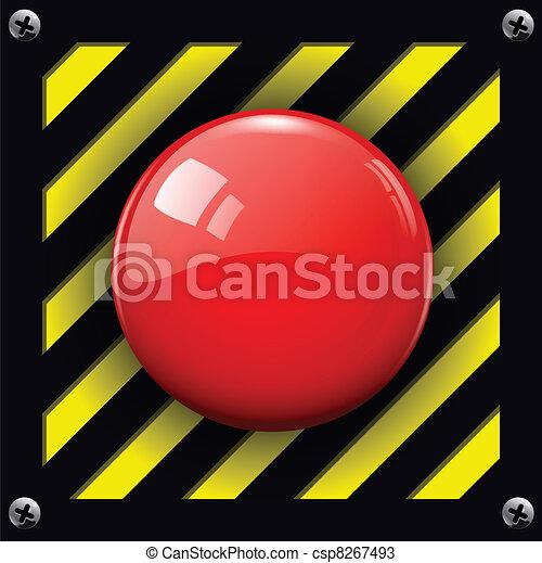 alarma, botón - csp8267493