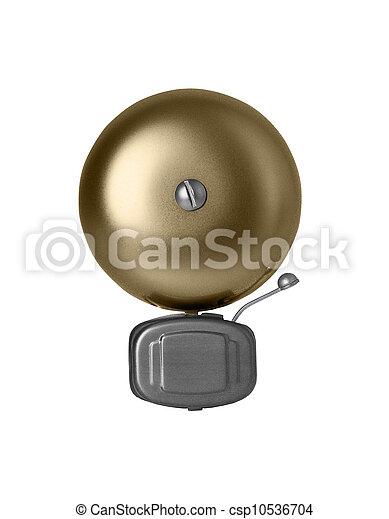 Campana de alarma aislada en blanco - csp10536704
