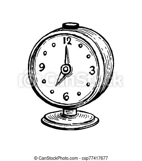alarma, clock., vendimia - csp77417677