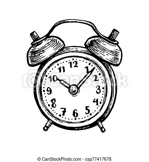 alarma, clock., vendimia - csp77417678