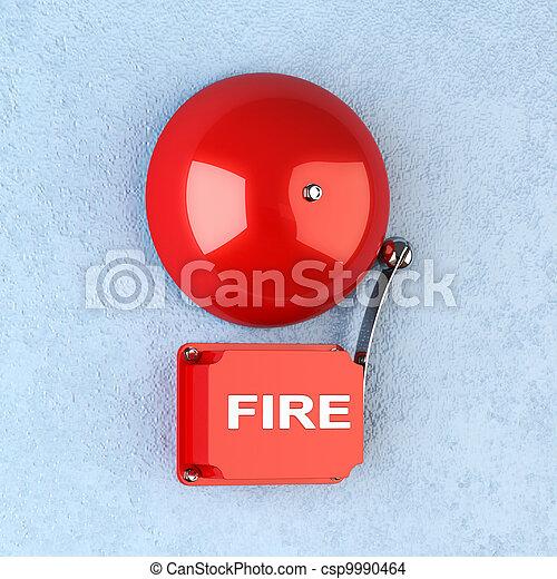 La alarma de incendio - csp9990464