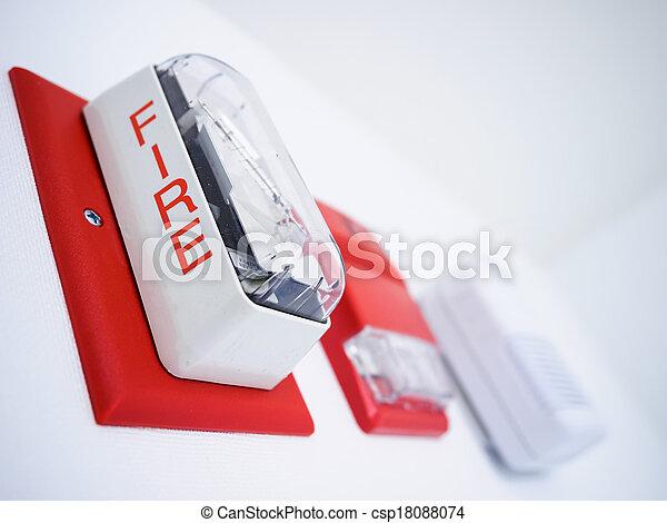 Alarma de incendio - csp18088074