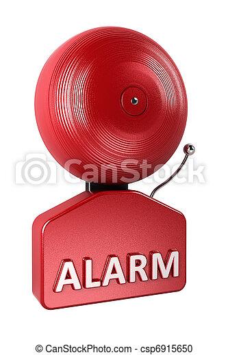 Alarma campana sobre blanco - csp6915650