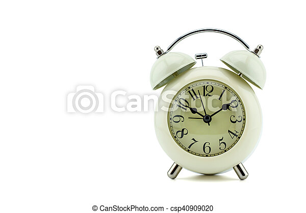 Reloj de alarma sobre fondo blanco - csp40909020