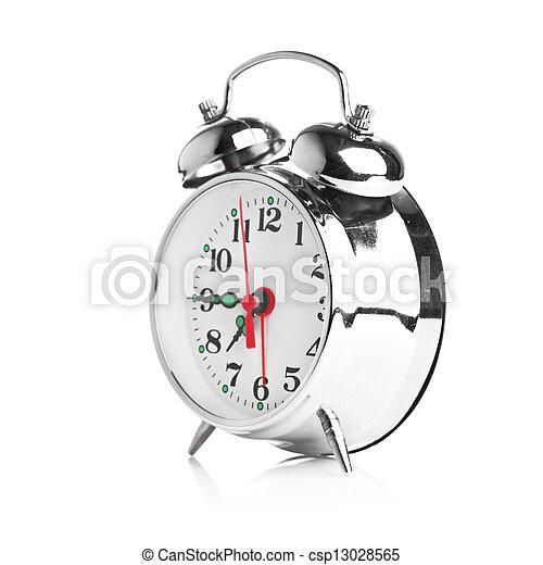Alarma de fondo blanco - csp13028565