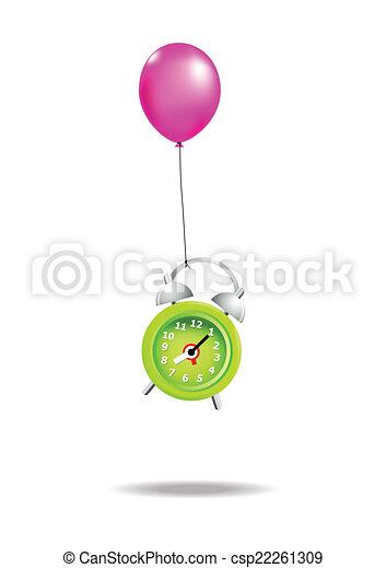 Reloj de alarma volador - csp22261309