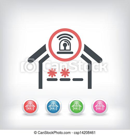 Un icono del concepto de alarma - csp14208461