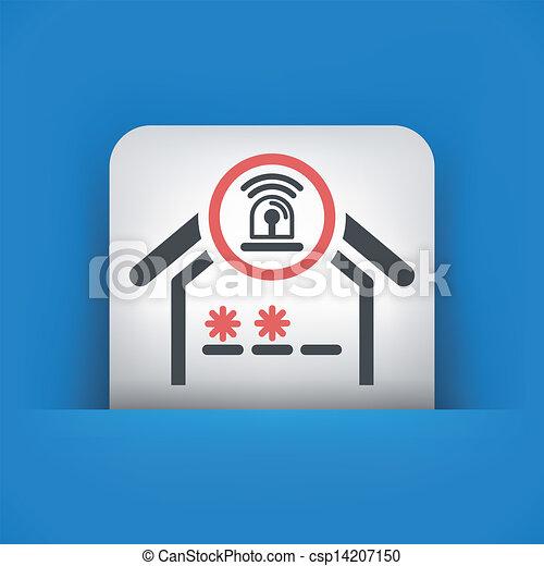 El icono de la alarma de la casa - csp14207150