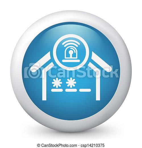 Un icono del concepto de alarma - csp14210375