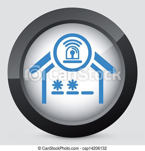 Un icono del concepto de alarma - csp14206132