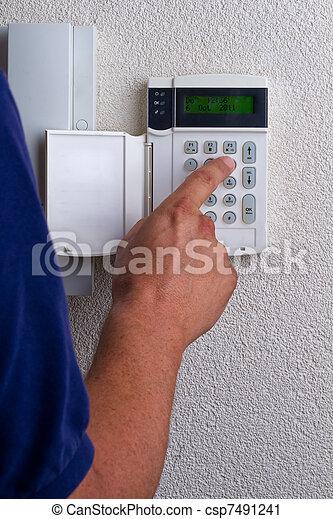 alarme, ativar, touchpanel - csp7491241