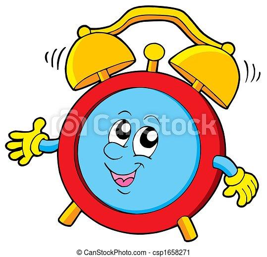 alarme, caricatura, relógio - csp1658271
