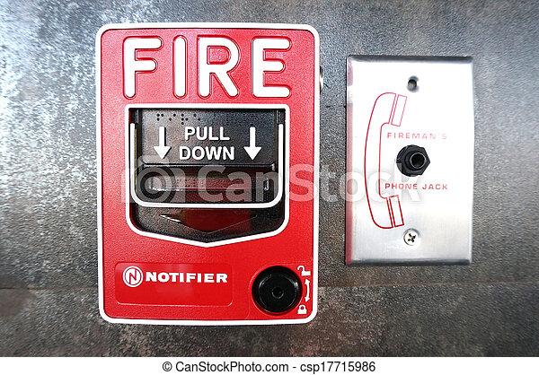 alarme fogo - csp17715986