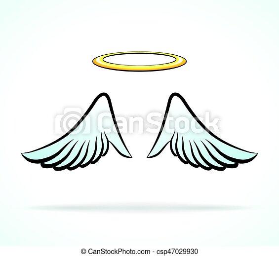 alas  u00e1ngel  aureola aureola  ilustraci u00f3n  alas  u00e1ngel angel wings clip art images free angel wings clip art pdf