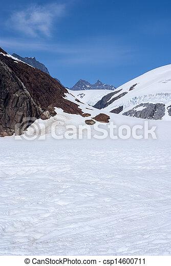 Alaska, aerial view of mountain - csp14600711