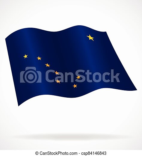 alaska ak flag flying vector - csp84146843