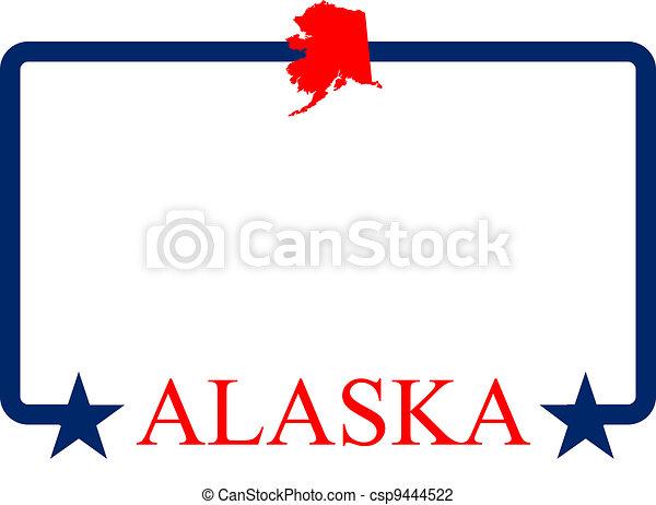 alaska frame alaska state map frame and name vector illustration rh canstockphoto com clipart alaska outline clipart alaska outline