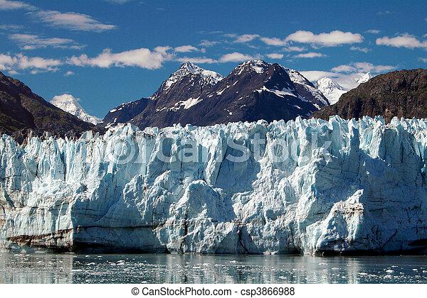 Alaskan Glacier and Peaks - csp3866988