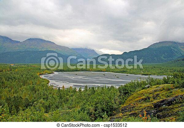 Alaskan Glacier Bed - csp1533512