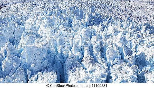 Alaskan Glacier Close up - csp41109831