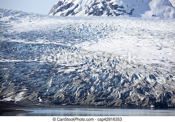 Alaskan Glacier Patterns - csp42916353